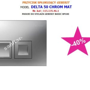PRZYCISK GEBERIT DELTA 50 CHROM MAT DO BASIC UP100