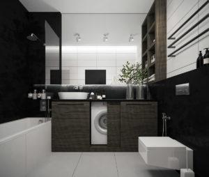 Czarna łazienka – przekonujemy do tego niestandardowego układu!