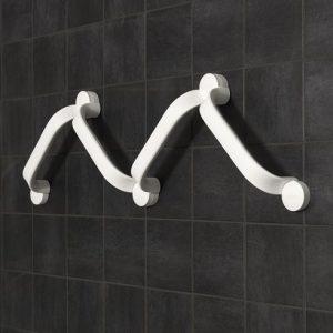 Etac Flex – uchwyt naścienny 60 cm szary klejony
